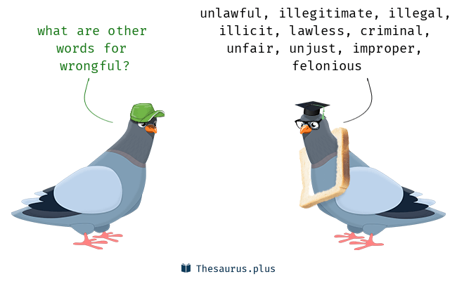 Synonyms for wrongful