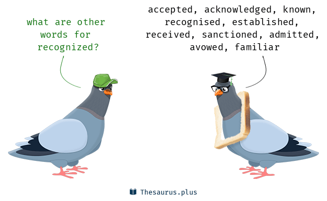Synonyms for recognized