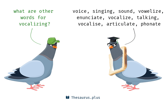 Synonyms for vocalizing