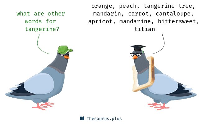 Synonyms for tangerine