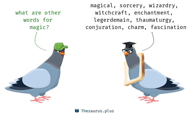 Synonyms for magic