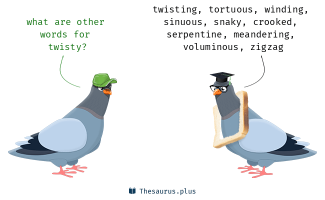 Synonyms for twisty