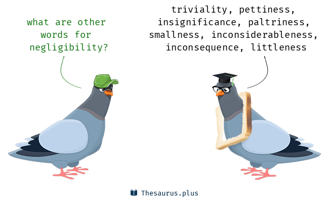 Synonyms for negligibility