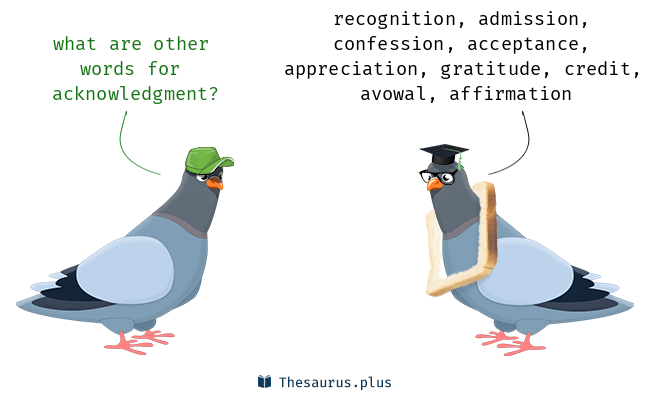Synonyms for acknowledgment