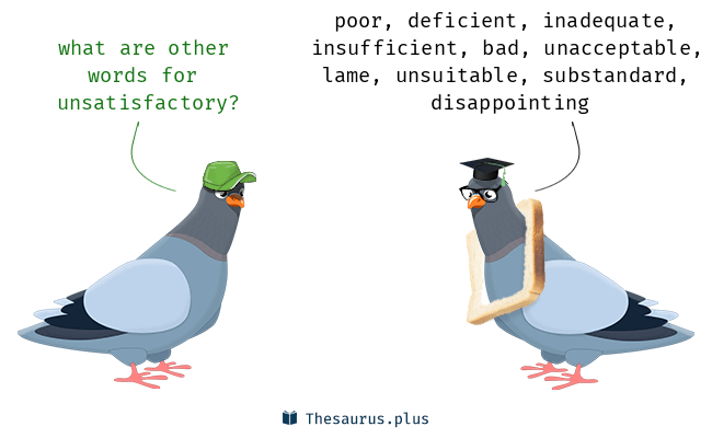 Synonyms for unsatisfactory