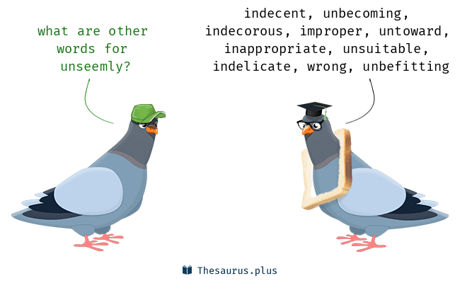 Synonyms for unseemly