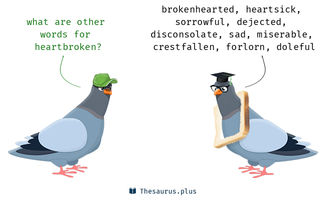 Synonyms for heartbroken