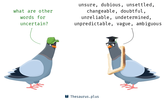 Synonyms for uncertain
