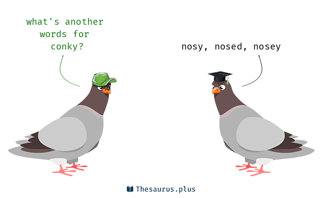 Words Conky and Nosey are semantically related or have similar meaning