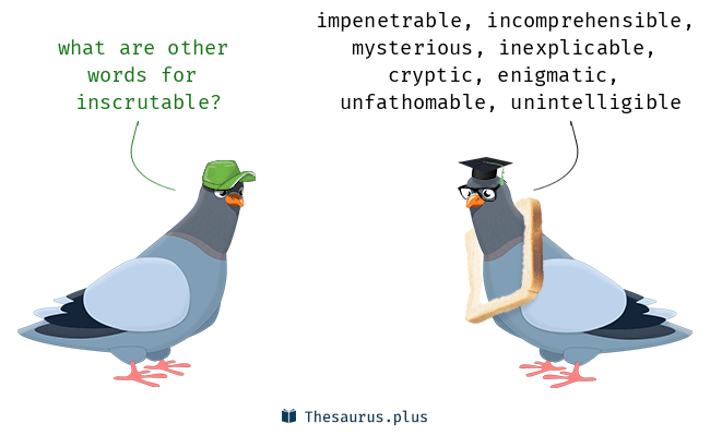Synonyms for inscrutable