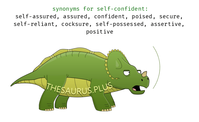 Similar words of self-confident