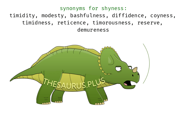 Similar words of shyness