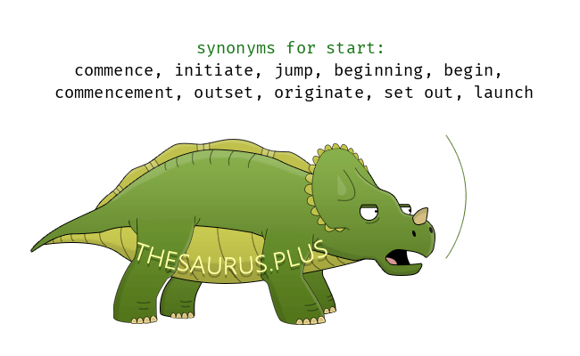 Similar words of start