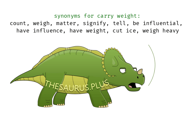 Similar words of carry weight