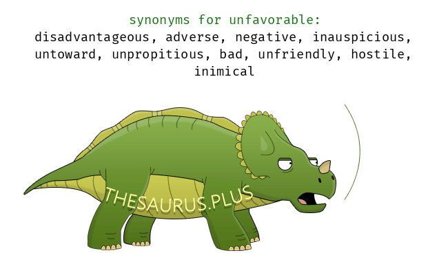 Similar words of unfavorable